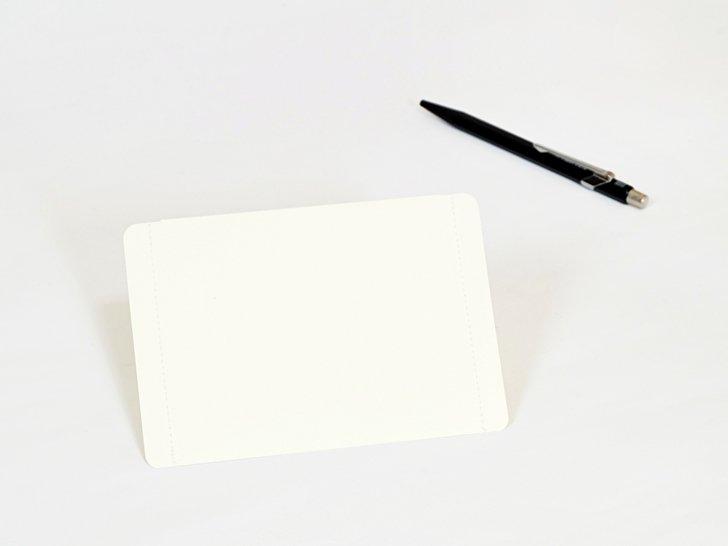nuino(ヌイーノ)01〈白〉|A7サイズ封筒3枚