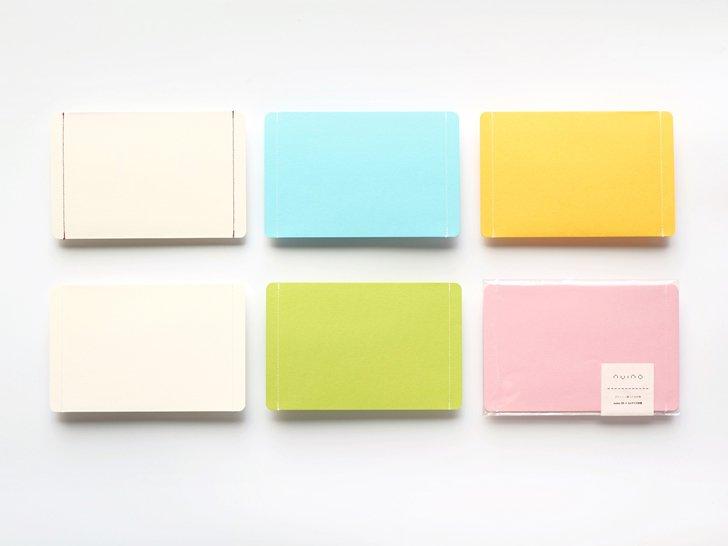nuino(ヌイーノ)A6封筒(3枚)|00〈白×赤〉
