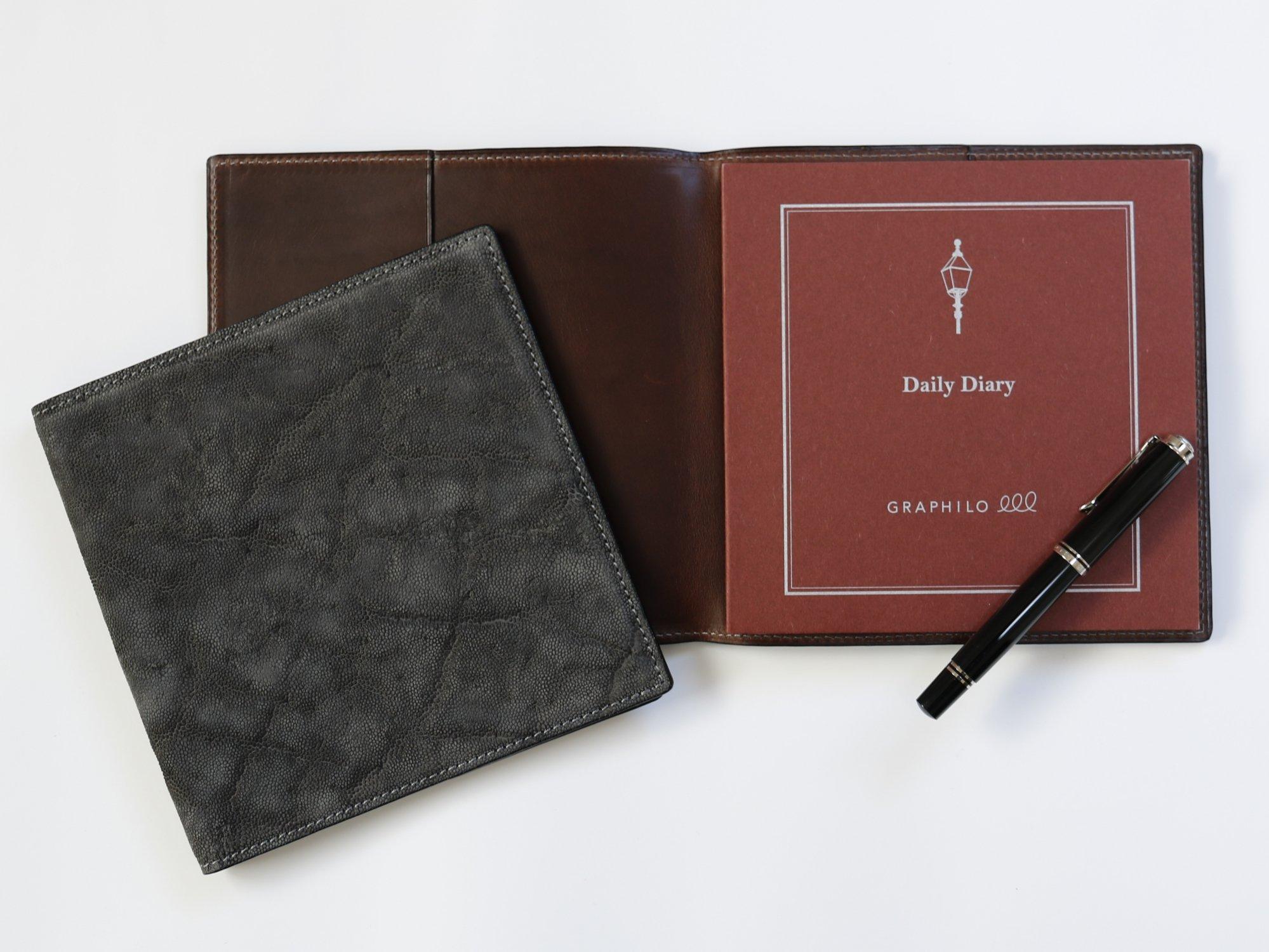 OUDE 正方形革カバー|シングルタイプ|エレファント・グレー(内革ダークブラウン)