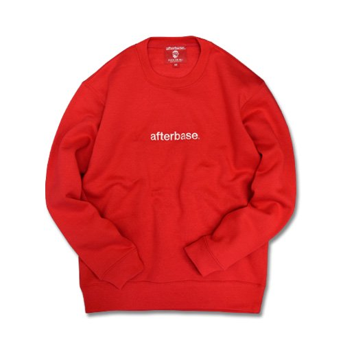 <img class='new_mark_img1' src='//img.shop-pro.jp/img/new/icons20.gif' style='border:none;display:inline;margin:0px;padding:0px;width:auto;' />afterbase [EMBROIDERY LOGO] CREWNECK SWEAT