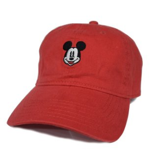 MICKEY 6PANEL CAP (RED)