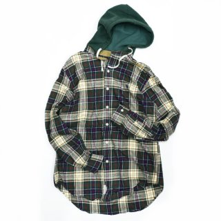 [USED] RALPH LAUREN CHECK HOOD-SHIRT