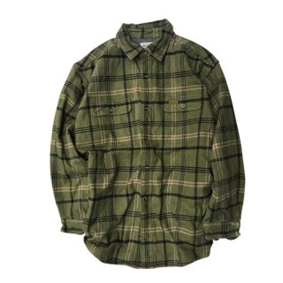 [USED]  CARHARTT GREEN CHECK SHIRT