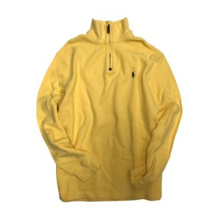 [USED] POLO KNIT HALF ZIP (YELLOW)