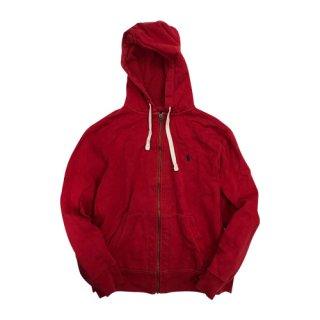 [USED] POLO HOODY (RED)