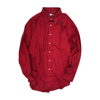 [USED] TOMMY HILFIGER L/S SHIRTS (RED)