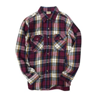 [USED] FIVE BROTHER CHECK L/S SHIRTS
