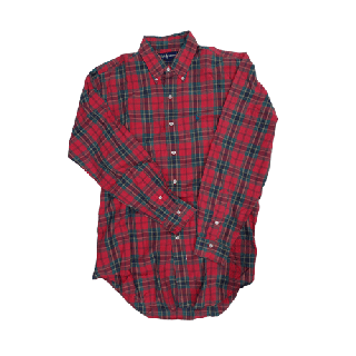 [USED] RALPH LAUREN L/S SHIRT (RED×GREEN)