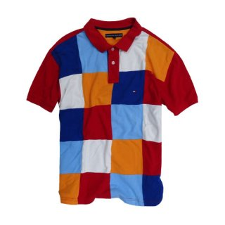 [USED] TOMMY HILFIGER POLO-SHIRT PATCH DESIGN