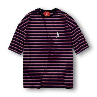 afterbase Box Silhouette Stripes ストライプ T-SHIRT