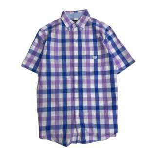 CHAPS  S/S PLAID SHIRT