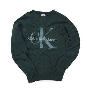 [USED] CALVIN KLEIN JEANS CREWNECK SWEAT(GREEN)