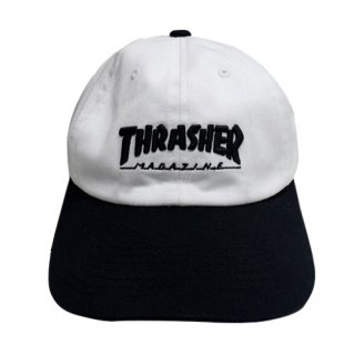 [USED] THRASHER CAP(WHITE/BLACK)