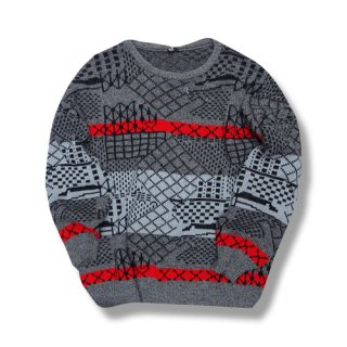 [USED] LUXUS JACQUARD CREW NECK KNIT