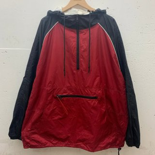 [USED] NYLON HALFZIP(BLACK×RED)