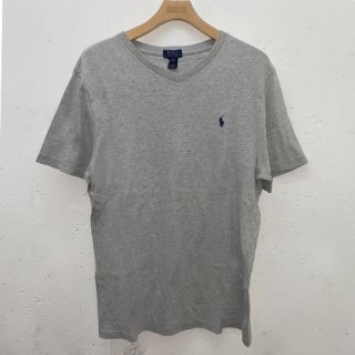 [USED] POLO RALPH LAUREN V NECK T-SH (GREY)