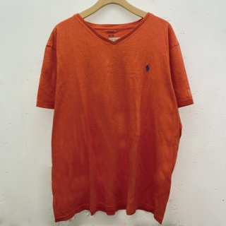 [USED] POLO RALPH LAUREN V NECK T-SH (ORANGE)