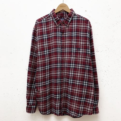 [USED] CHAPS RED CHECK L/S SHIRT