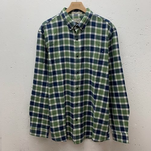 [USED] L.L.Bean SLIGHTLY FITTED CHECK L/S SHIRT