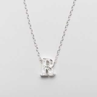 Alphabet message charm / Silver Necklace L