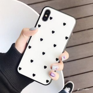 iPhoneケース ハート iPhoneXR iPhoneXS X iPhone8 iPhone7 iPhone6S プラス plus 携帯 スマホ ケース カバー 鏡面 光沢 ミラー