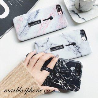 iPhoneケース 大理石柄  マーブル iPhoneXS iPhoneX iPhone8 iPhone7 iPhone6 リングベルト ユニセックス スマホ ケース カバー 送料無料
