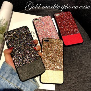 iPhoneケース ラメ グリッター キラキラ iPhoneX iPhone8 iPhone7 iPhone6 異素材 バイカラー スマホ ケース カバー 送料無料