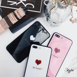 iPhoneケース ハート iPhoneXS iPhoneX iPhone8 iPhone7 iPhone6 6S プラス plus スマホ ケース カバー 携帯 ミラー 鏡面 送料無料