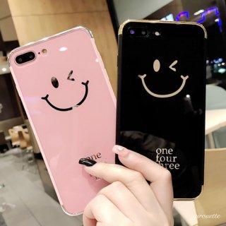 iPhoneケース スマイル ペア お揃い カップル iPhoneX iPhone8 iPhone7 iPhone6 6S plus Smiley ニコちゃん スマホケース スマホカバー 送料無料