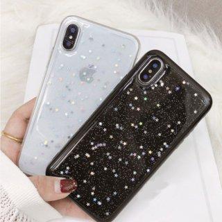 iPhone8 iPhoneX iPhoneXS iPhone7 iPhone6 6S プラス plus スマホ ケース カバー 携帯 ラメ グリッダー キラキラ シンプル クリア おしゃれ
