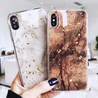 iPhone11 ケース iPhoneSE iPhone8 iPhoneXR iPhoneXS Max 携帯 スマホ ケース カバー 大理石柄 キラキラ ラメ シリコン