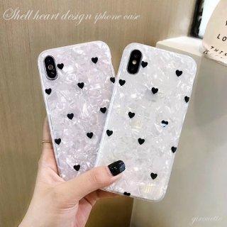 iPhoneケース XR XS 8 ハート シェル ホログラム iPhoneXS iPhoneXR iPhone8 7 6S プラス plus 携帯 スマホ ケース カバー