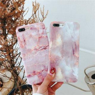 iPhoneケース XR XS 8 大理石 ピンク iPhoneXS iPhoneXR iPhone8 7 6S プラス plus 携帯 スマホ ケース カバー マーブル 高級感
