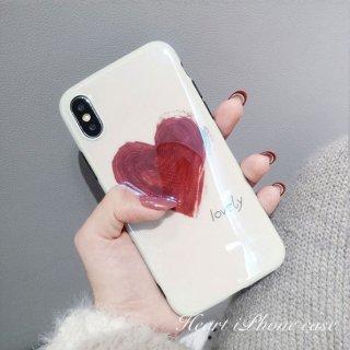 携帯ケース iPhone8 iPhone7 iPhoneXS Max XR iPhoneX プラス plus スマホケース スマホカバー ハート イラスト風 手書き風 おしゃれ レディース アイホン