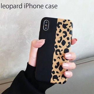 iPhoneケース XR XS 8 レオパード ヒョウ柄 iPhoneXS iPhoneXR iPhone8 7 6S プラス plus 携帯 スマホ ケース カバー アニマル バイカラー