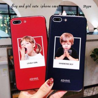 携帯ケース iPhone8 iPhone7 iPhoneXS Max XR iPhoneX プラス plus スマホケース アイフォン カバー Handsome Boy&Lovely Girl
