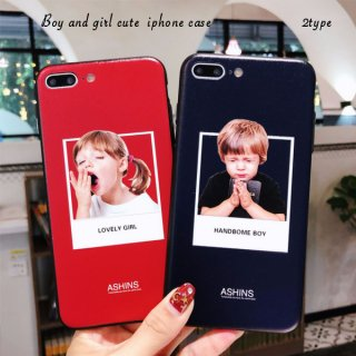 iPhoneケース XR XS 8 Handsome Boy&Lovely Girl iPhoneXS iPhoneXR iPhone8 7 6S プラス plus 携帯ケース スマホケース カバー