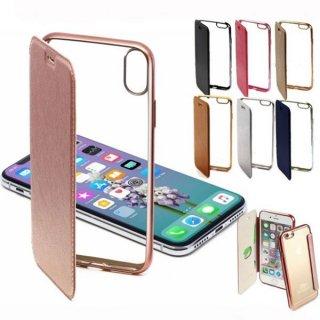 iPhoneケース 手帳型 クリア iPhoneXS Max iPhoneXR iPhone8 iPhone7 スマホケース 携帯ケース カバー アイホン アイフォン 耐衝撃 360°フルカバー