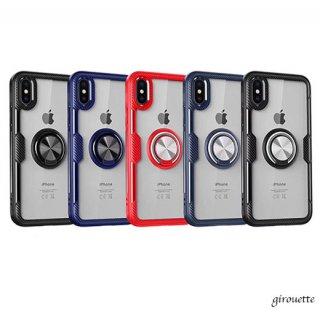 iPhoneケース 高透明 360度リング付き iPhoneXR iPhone8 iPhone7 iPhoneXS Max スマホ 携帯 ケース カバー アイホン アイフォン