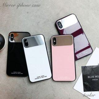 iPhone XR 8 ケース ミラー iPhoneXR iPhone8 XS Max X 7 6 6S プラス plus スマホケース 携帯ケース カバー アイホン アイフォン 鏡 シンプル