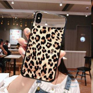 iPhoneケース XR XS 8 ヒョウ柄 レオパード 鏡 ミラー付き iPhoneXR iPhone8 7 iPhoneXS Max X スマホケース 携帯カバー