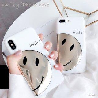 iPhoneケース スマイル ソフト シリコン smiley ニコちゃん iPhoneXR iPhoneXS Max iPhone8 iPhone7 スマホ 携帯 ケース カバー