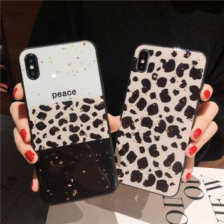 iPhoneケース iPhoneXS Max iPhoneXR iPhone8 iPhone7 スマホ 携帯 ケース カバー おしゃれ キラキラ ラメ グリッダー ヒョウ柄 豹柄