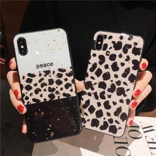 iPhone12 ケース iPhoneXS Max iPhoneXR iPhone11 iPhone8 スマホ 携帯 ケース カバー おしゃれ キラキラ ラメ グリッダー ヒョウ柄 豹柄