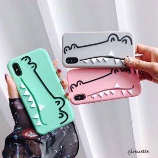 iPhoneケース iPhoneXS Max iPhoneXR iPhone8 iPhone7 スマホ 携帯 ケース カバー ワニ キャラクター 動物 かわいい
