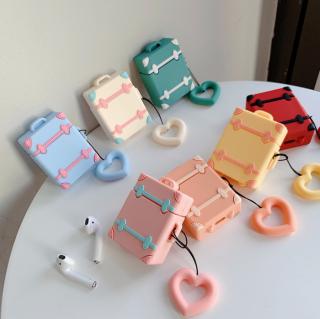 Airpodsケース スーツケース風 Airpods/Airpods2対応 旅行かばん型 収納ケース イヤホンカバー エアポッズ ケース 保護ケース
