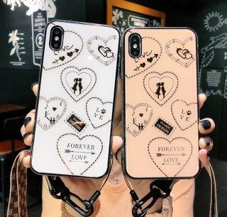 iPhone11ケース Pro iPhone8 iPhoneXS Max iPhoneXR iPhone7 スマホ 携帯 ケース カバー 韓国 おしゃれ ハート ラメ キラキラ クリア