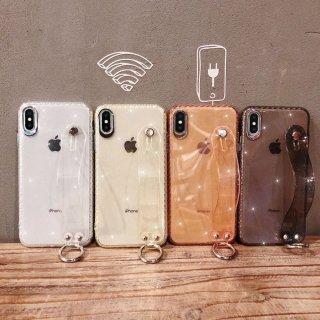 iPhone8ケース iPhoneXRケース iPhoneXSケース iPhone8plus アイフォン 8 xr スマホ 携帯 ケース カバー ラメ ベルト クリアケース リング