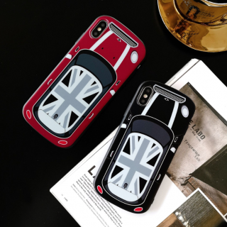 iPhone8ケース iPhoneXRケース iPhoneXSケース iPhone8plus アイフォン 8 xr スマホ 携帯 ケース カバー ミニ クーパー風 カー イギリス風 車