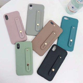 iPhoneSE ケース シリコン ベルト iPhone11 iPhone8 iPhoneXR iPhoneXS スマホ 携帯 ケース カバー リング 落下防止 おしゃれ